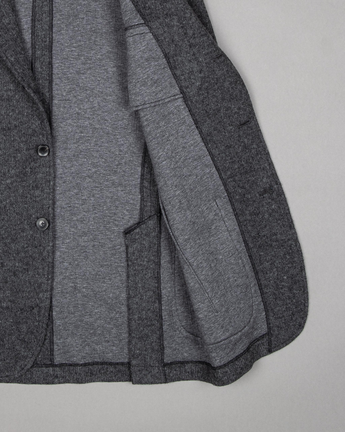 Single-Breasted Wool Blend Blazer