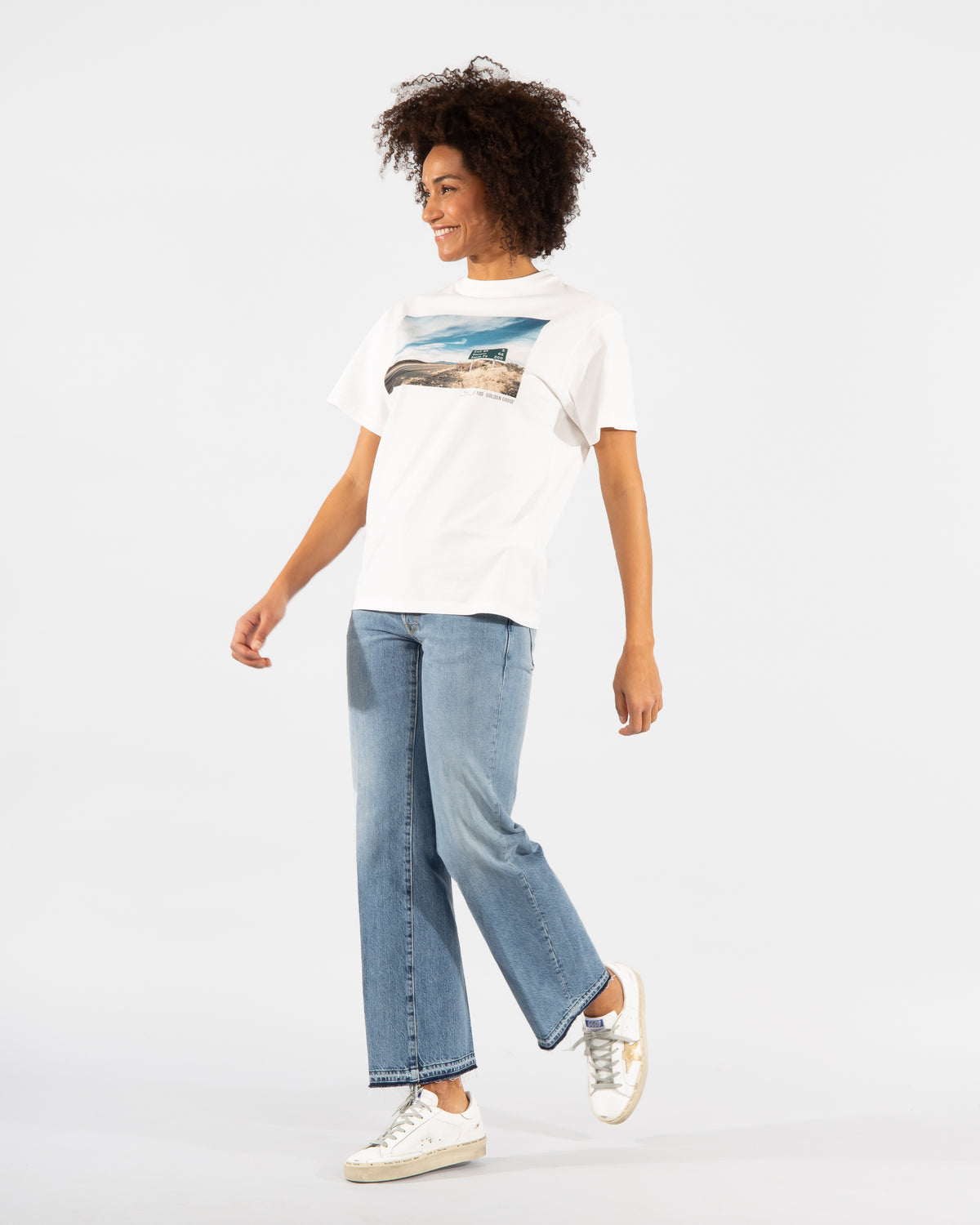 Golden Goose Damen Jeans aus Baumwolle in blau denim