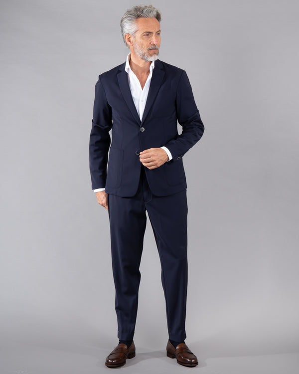 Barena trouser 100% wool in dark blue navy