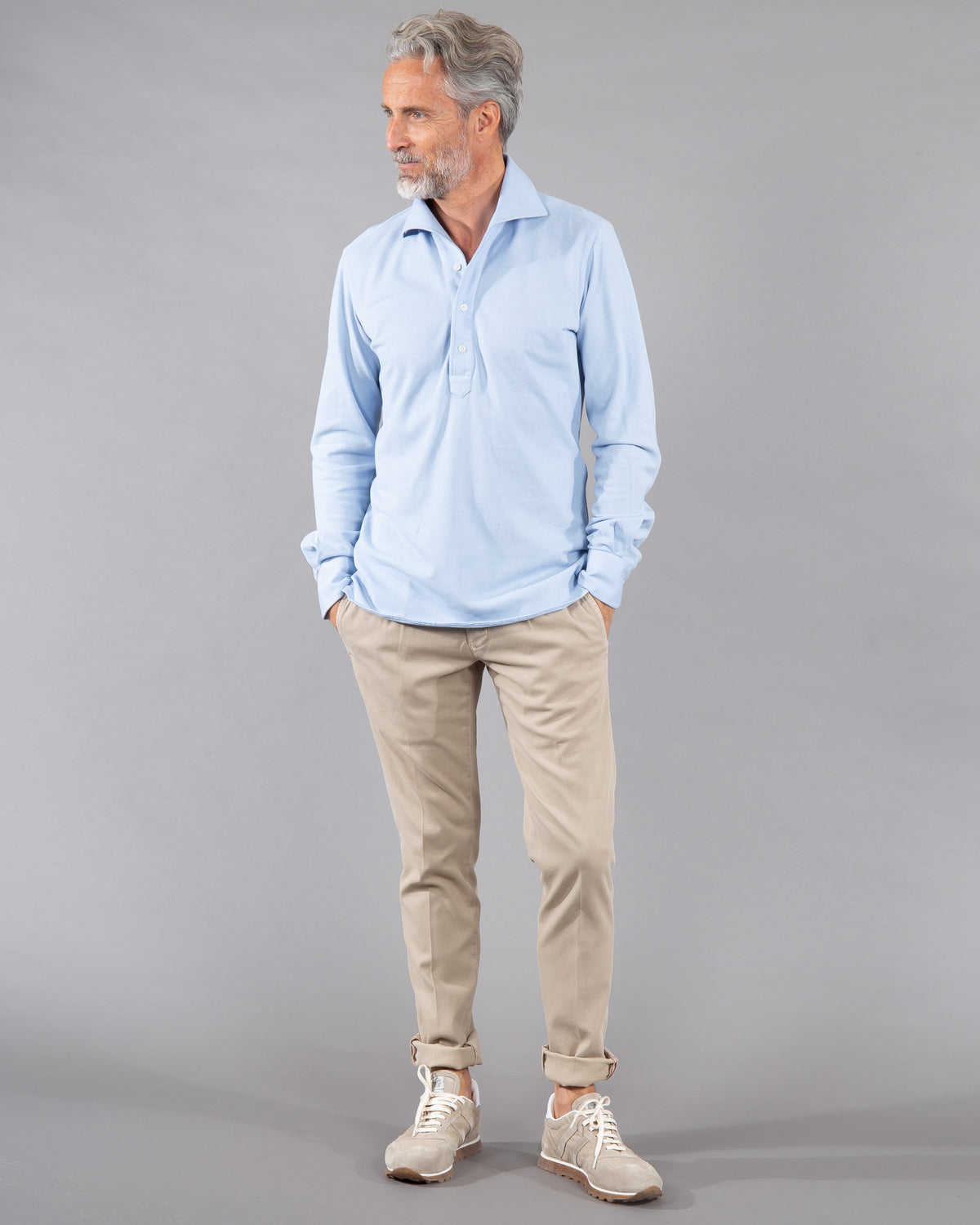 100 Hands Polo Shirt 100% cotton in light blue