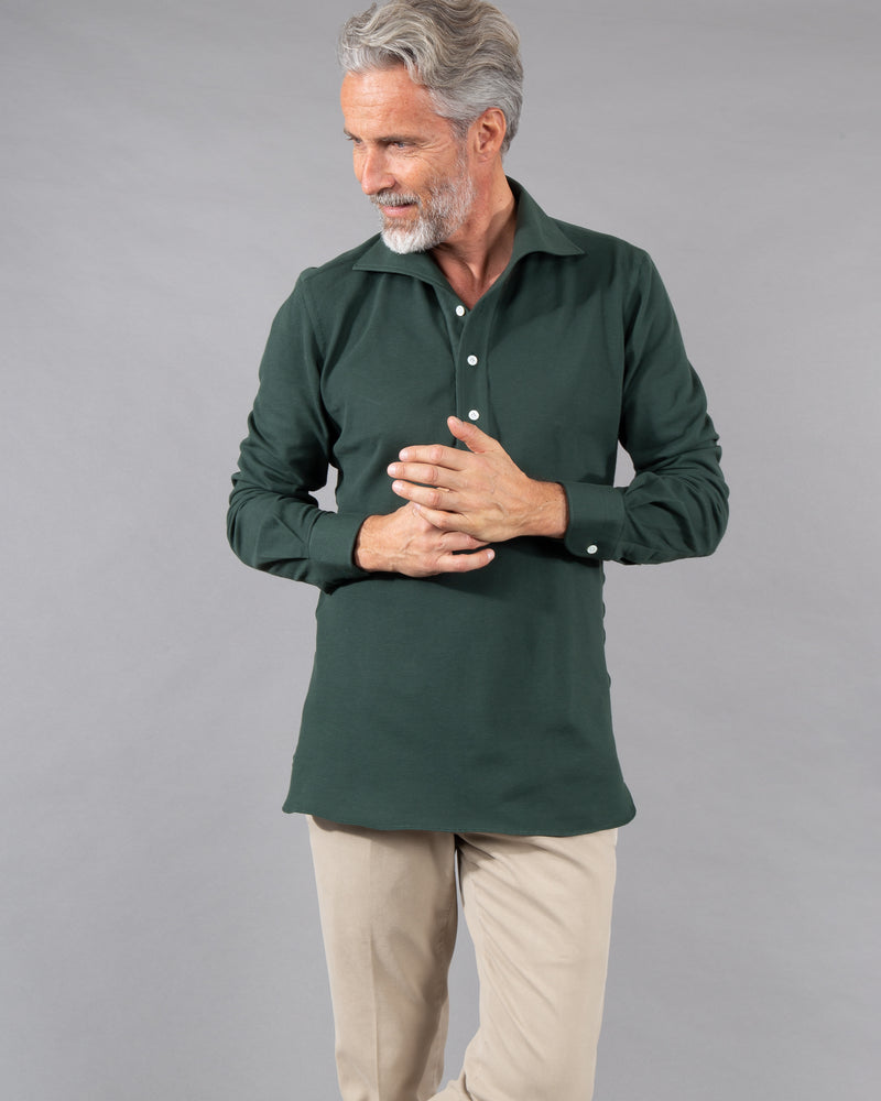 100 Hands Polo Shirt 100% cotton in green