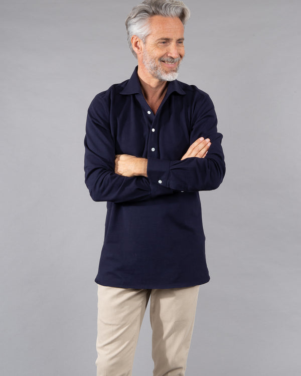 100 Hands Polo Shirt 100% cotton in navy dark blue