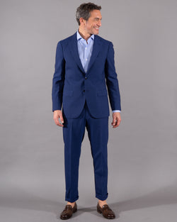 Boglioli Suit with blazer and pants 100% virgine wool in royal blue