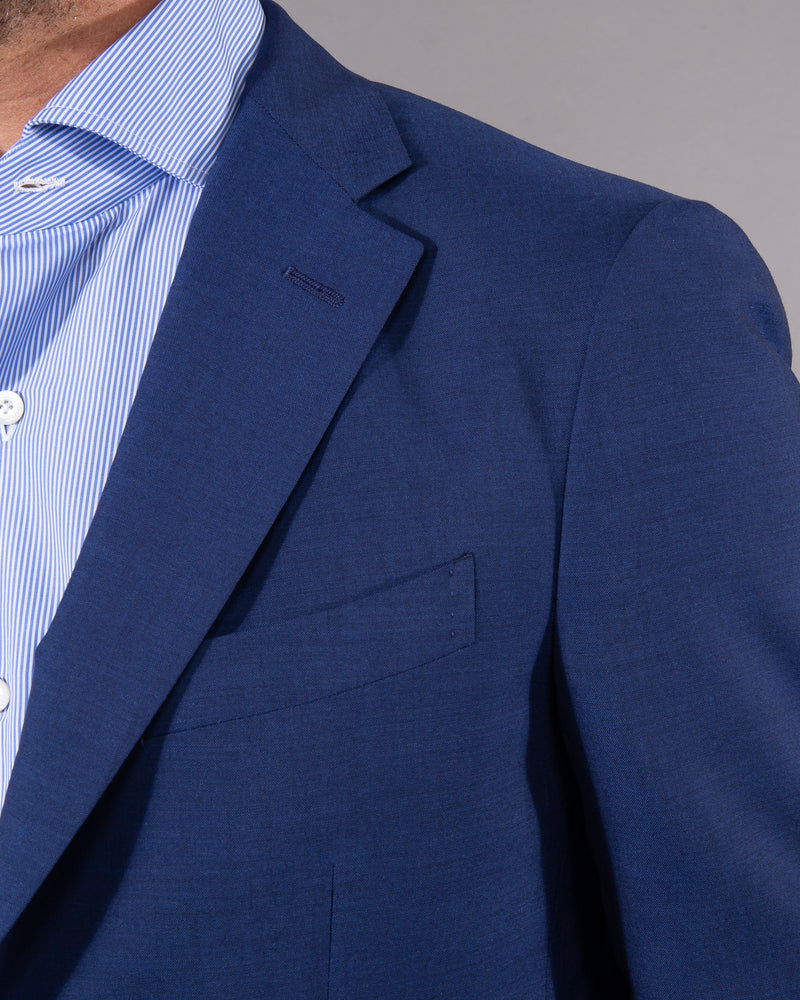 Boglioli Suit with blazer and pants 100% virgine wool in royal blue navy