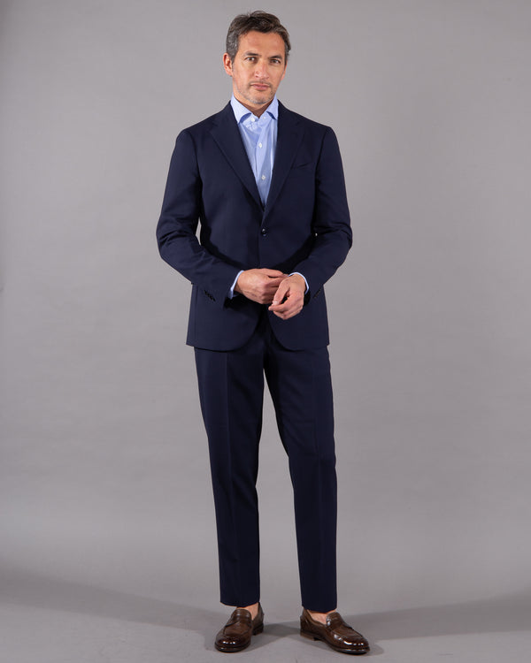 Boglioli Suit with blazer and pants 100% virgine wool in dark blue navy