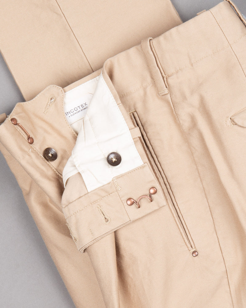 Incotex cotton Chino Trouser Pants Hose for men in beige 100% cotton