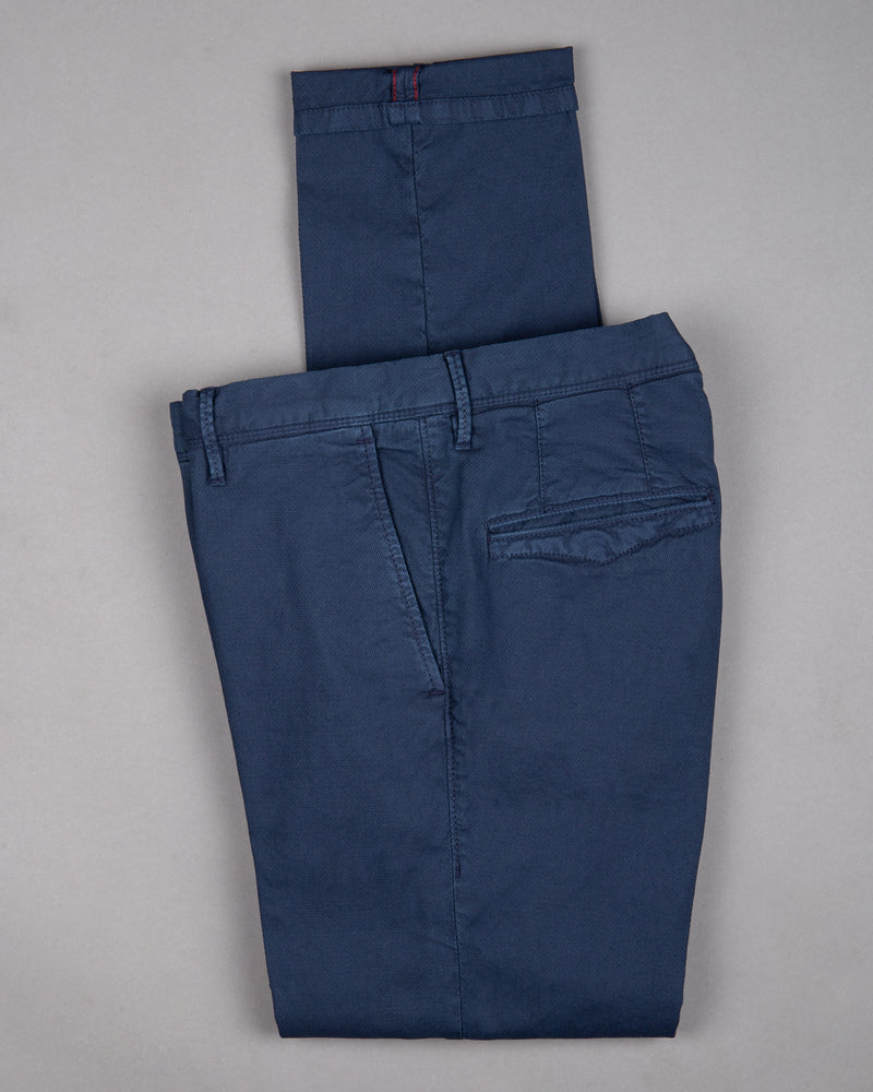 Incotex slacks Chino Trouser Pants Hose for men in dark blue navy 98% cotton 2% elastane