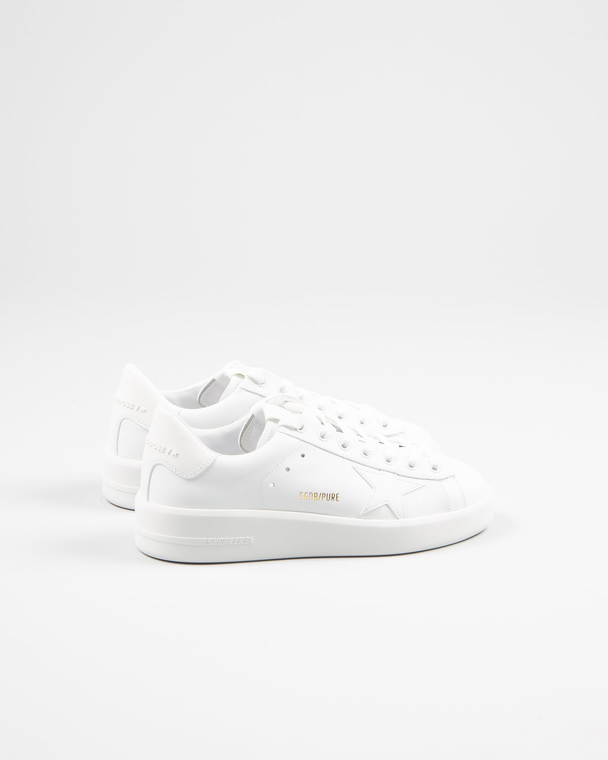 Golden Goose pure star sneaker women female 100% calf skin in white