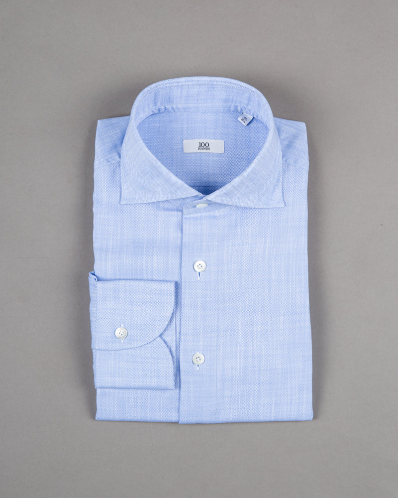 100 Hands shirt 100% cotton light blue