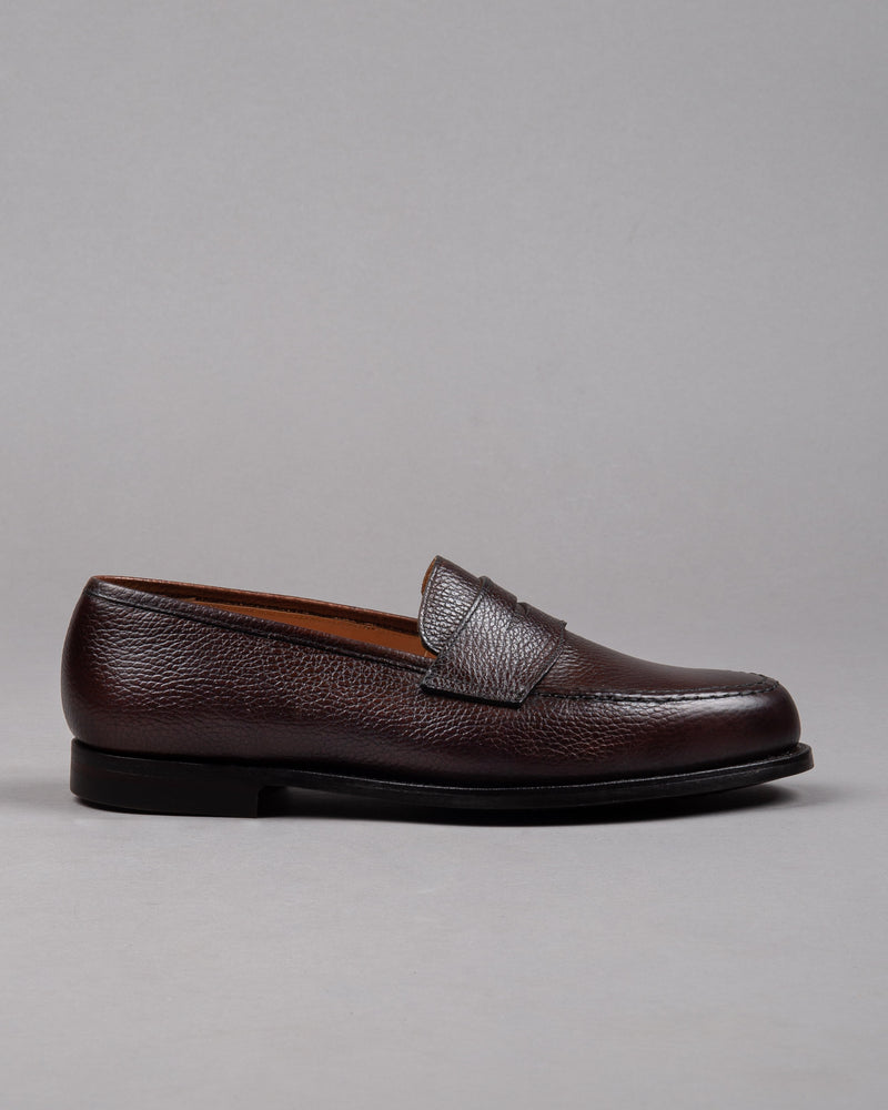 Crockett and Jones Herren Penny Loafer Schuh in braun mit Gummisohle