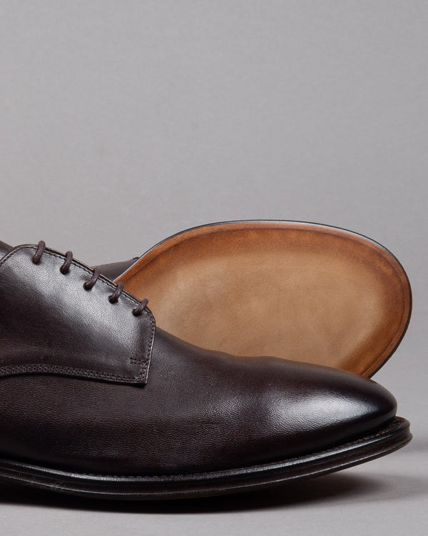 Alberto Fasciani Schnüren Lace up Zen 57024 leather in brown made in Italy