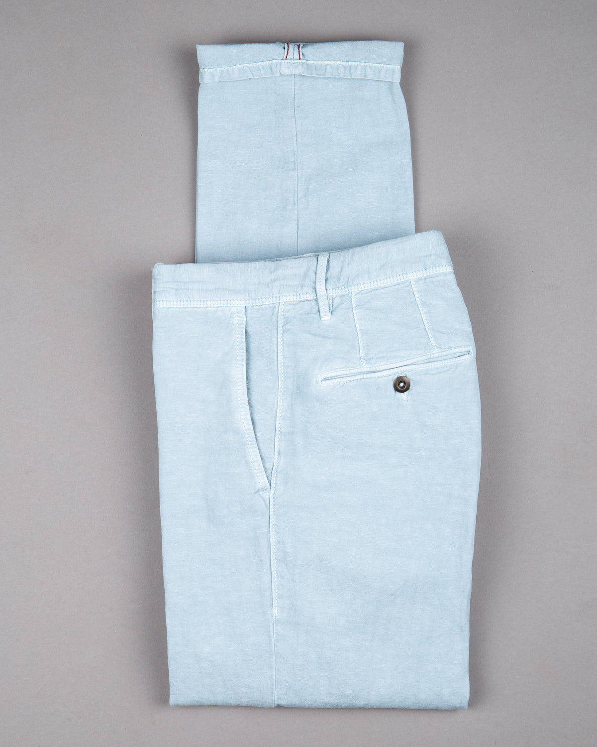 Incotex slacks Chino Trouser Pants Hose for men in light blue 51% linen 49% cotton