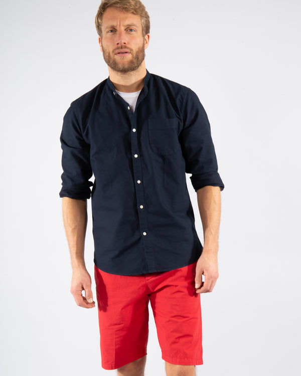 Stand-up collar cotton Shirt