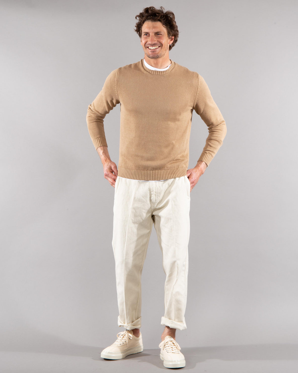 Linen-Cotton Sweater