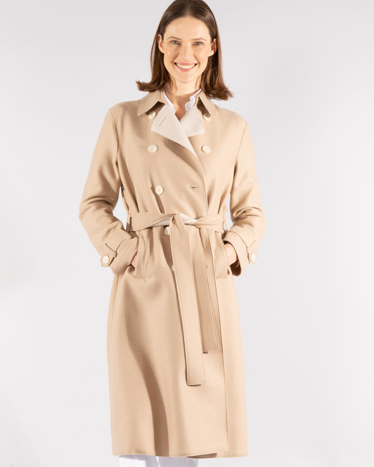 Virgin Wool Trenchcoat