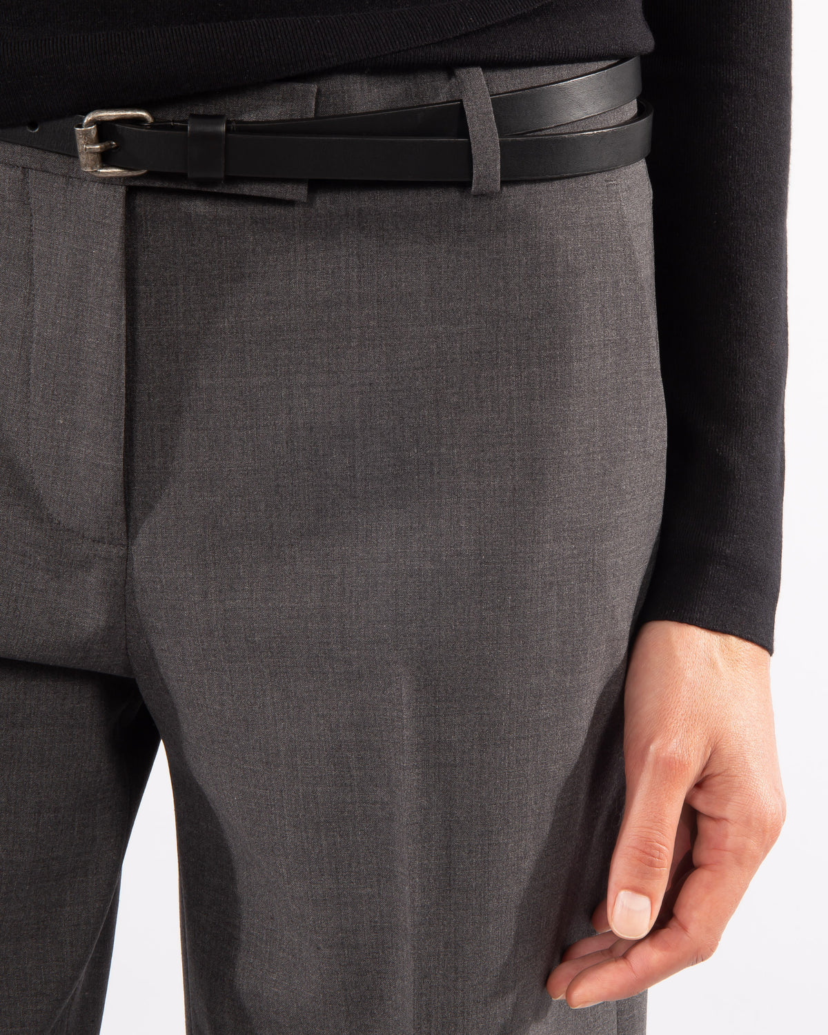 Flared Wool Trouser