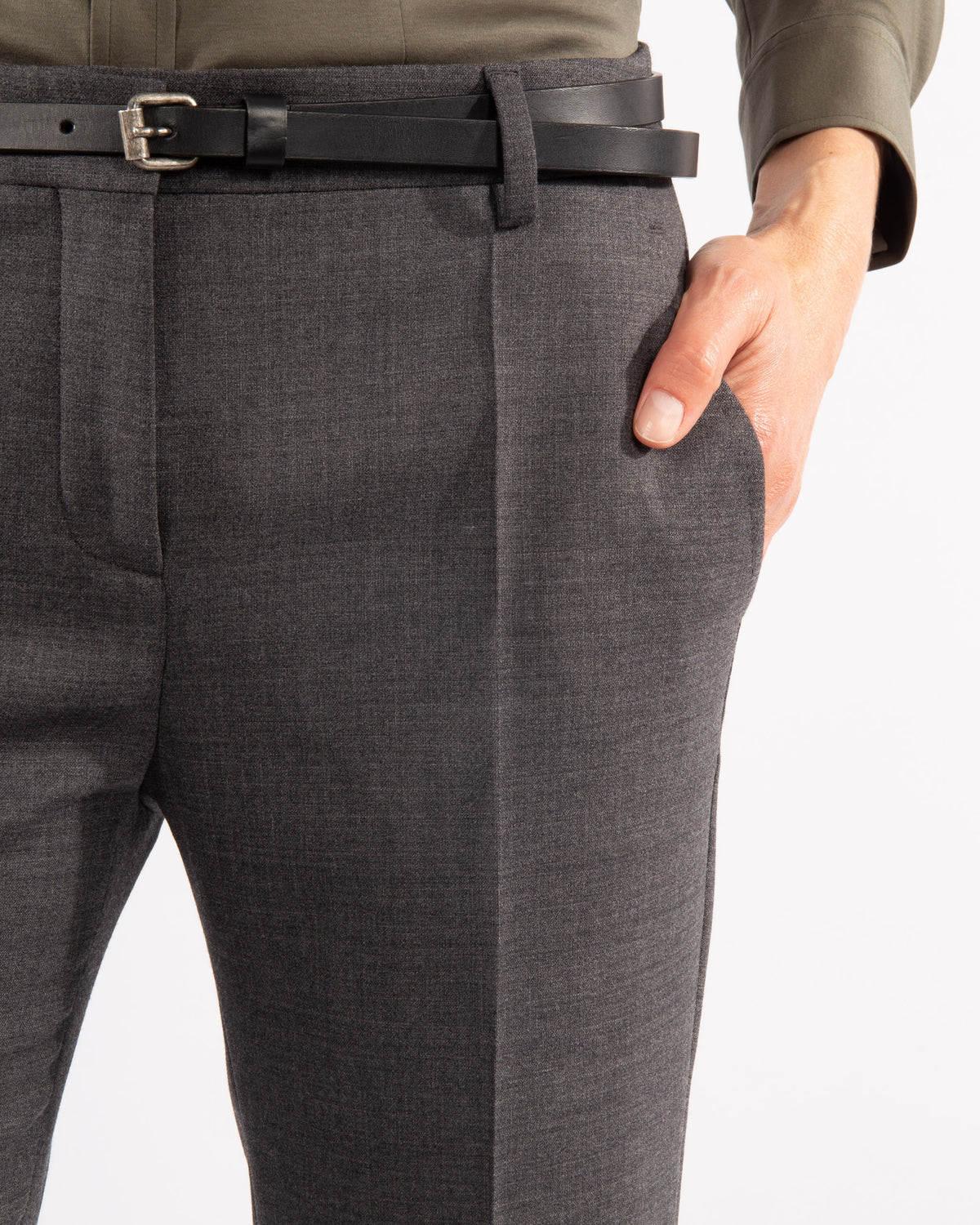 Virgin Wool Double Stretch Trousers