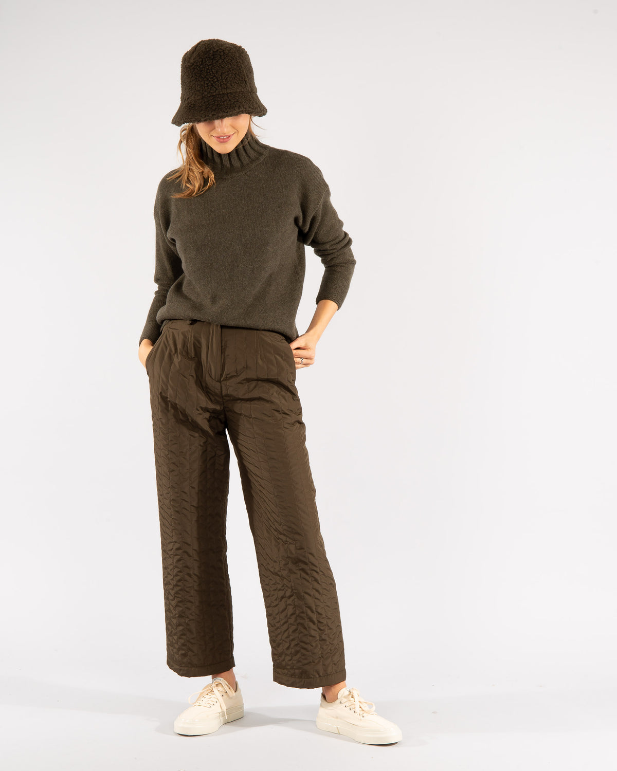 Quilted trousers