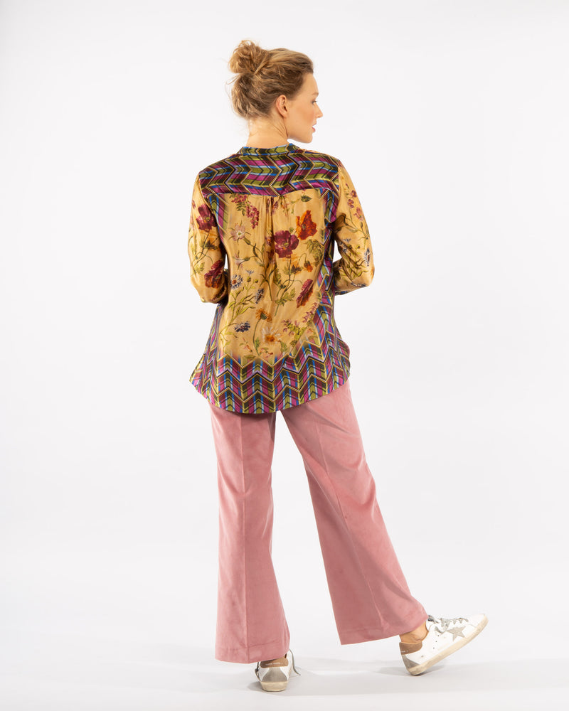 Patterned Silk Blouse