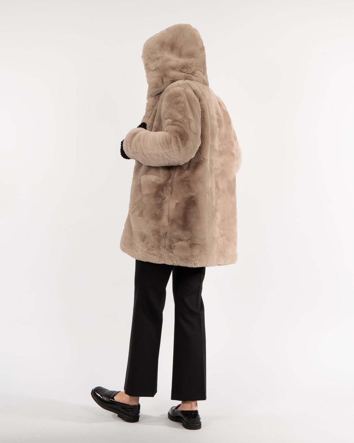 'Maria' Faux-fur long Jacket