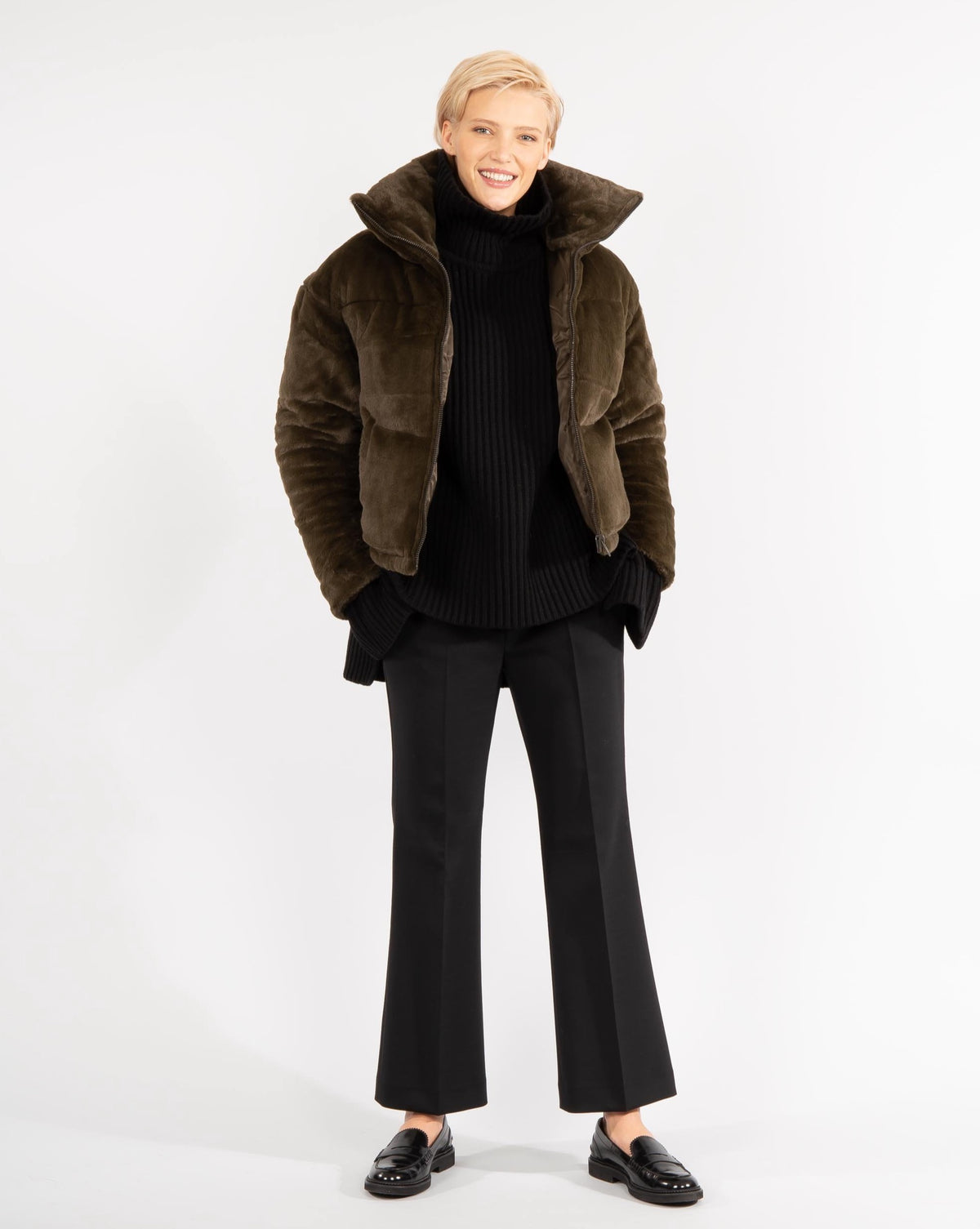 'Billie' Faux-Fur Puffer Jacket