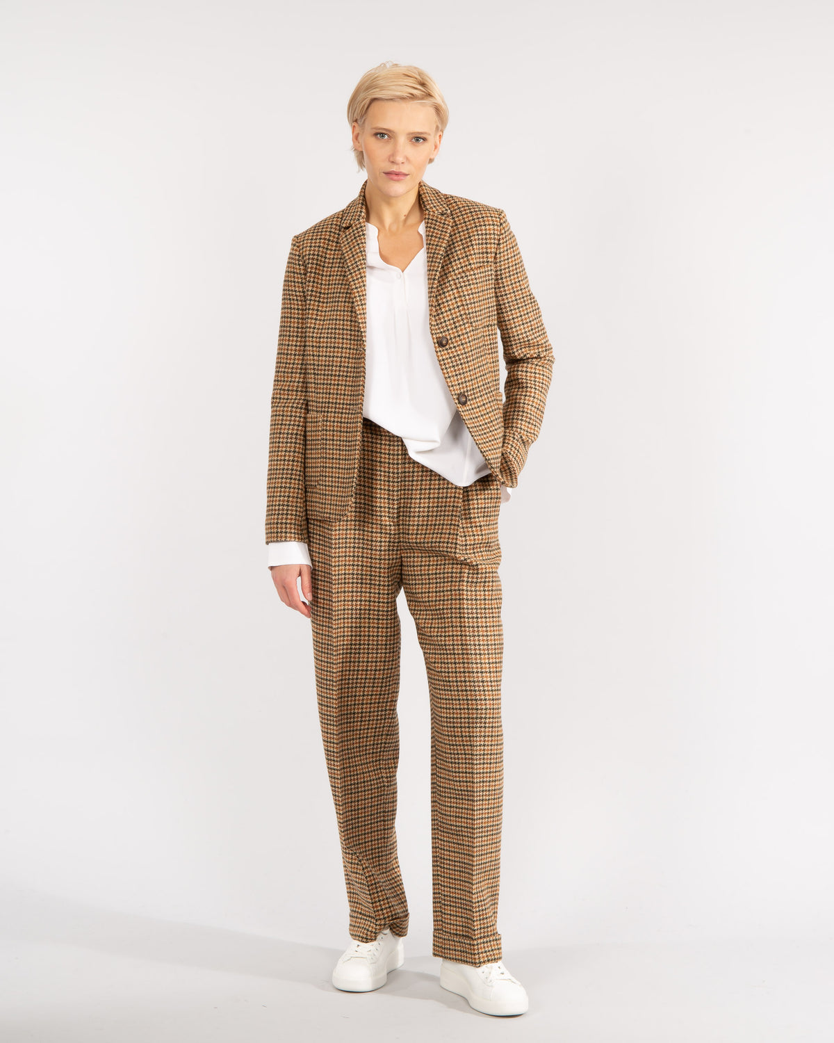 Houndstooth-Checked Trousers