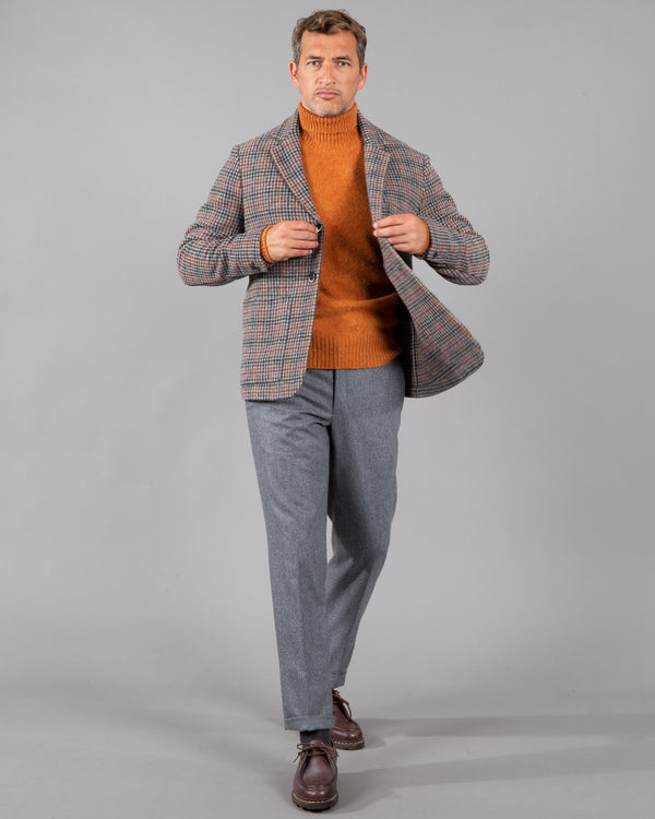 Single-breasted wool-houndstooth blazer