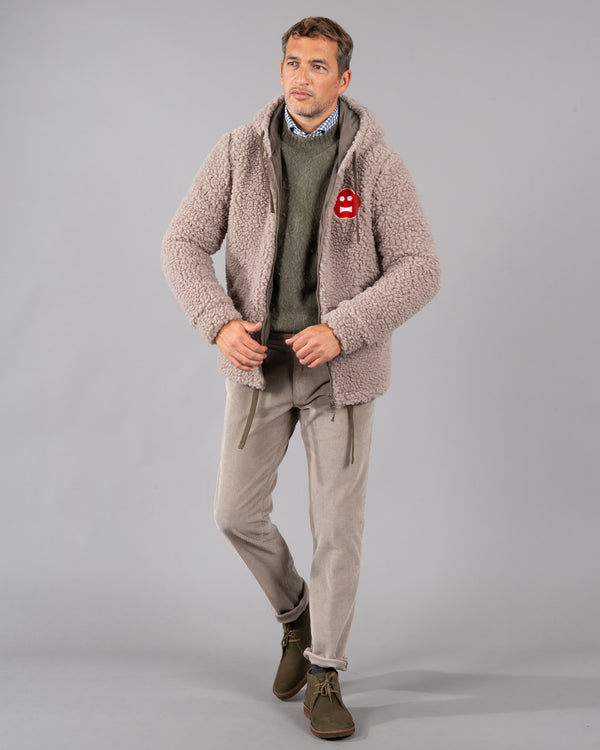 Wool-Blend Fleece Jacket