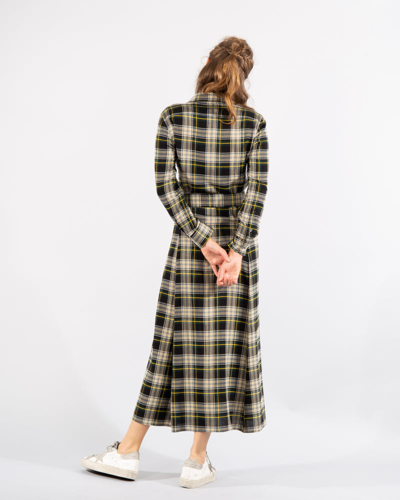 Tartan Cotton-Blend Shirtdress