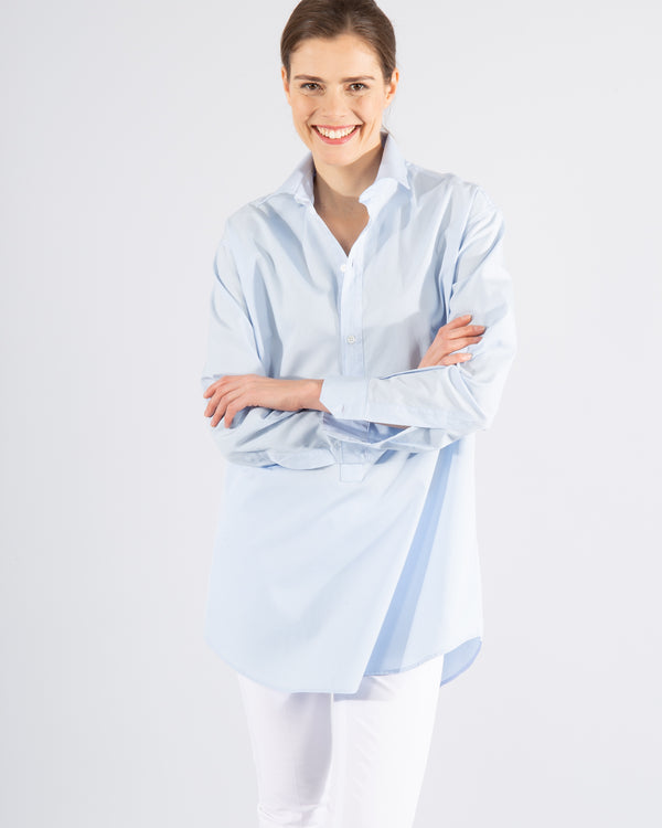 Long Cotton Shirt Blouse