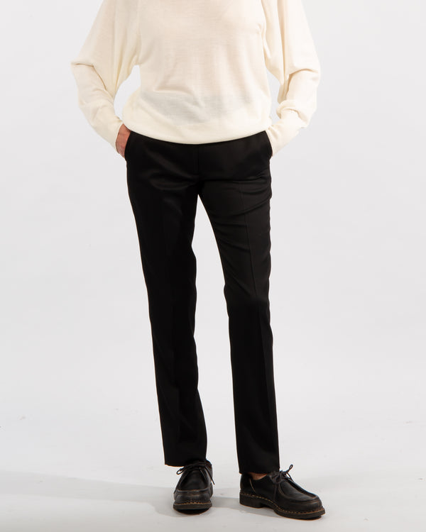 Virgin Wool Blend Trousers