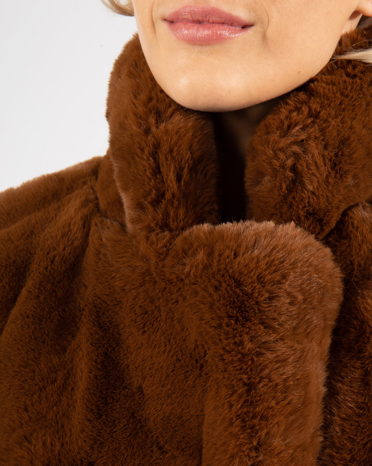 'Laure' Faux-Fur Coat