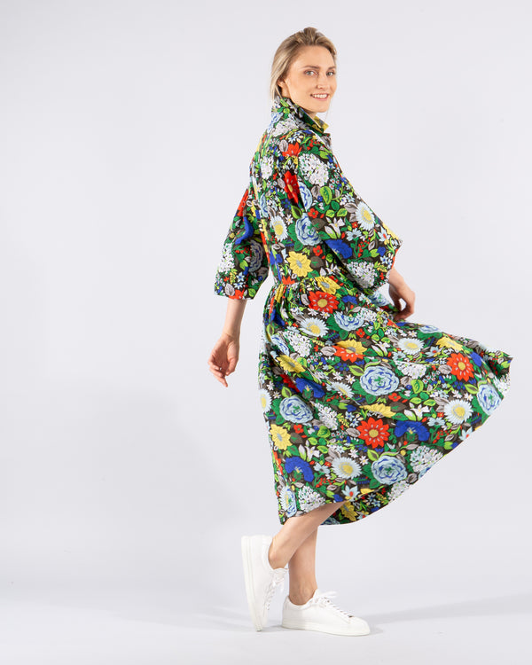 Silk 'Botanical' Dress