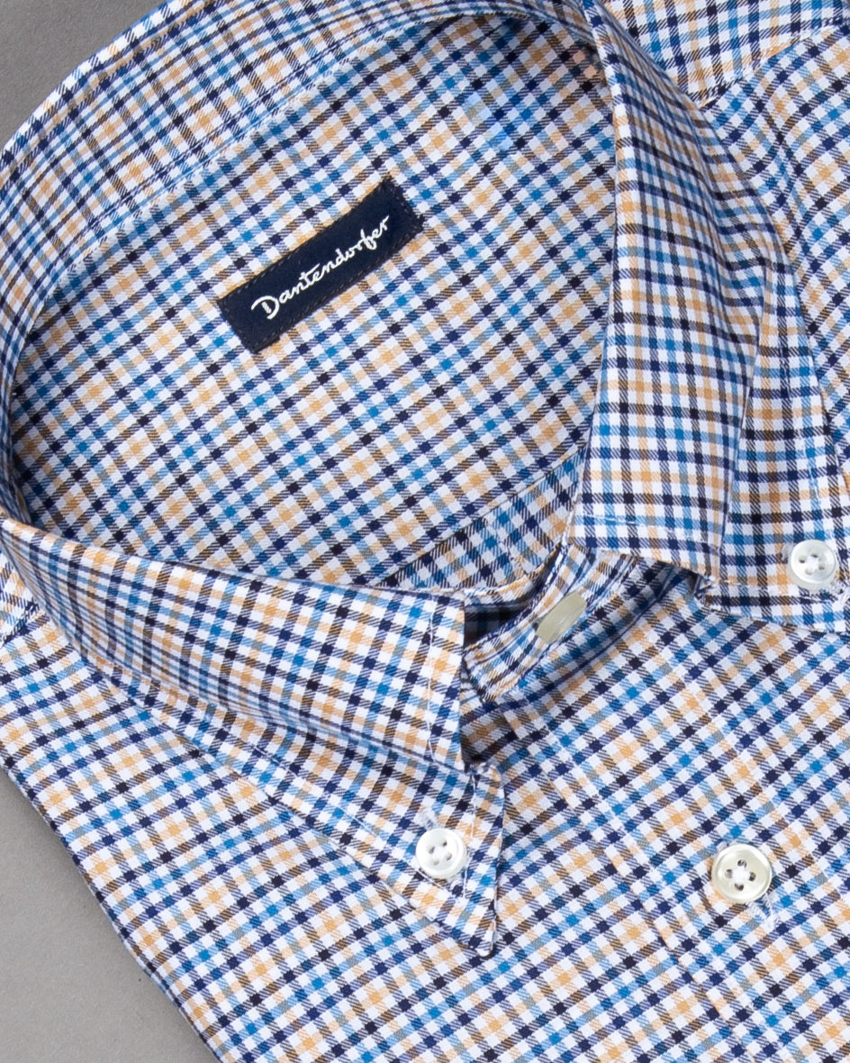 'Prizip' Kariertes Button-Down-Hemd