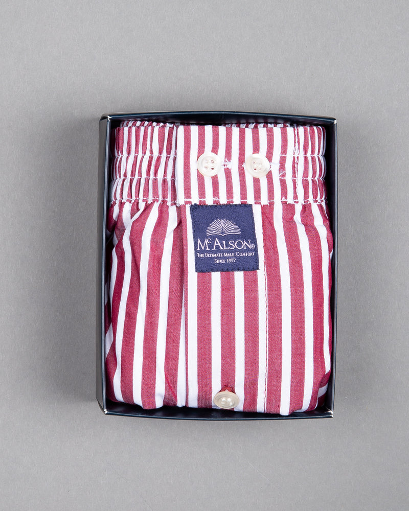 Mc Alson boxer shorts 100% cotton white red