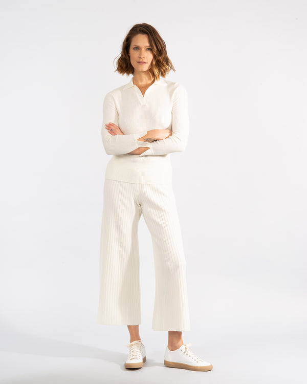 Knitted Virgin Wool Trousers