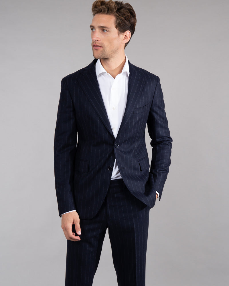 Pinstripe Wool Suit
