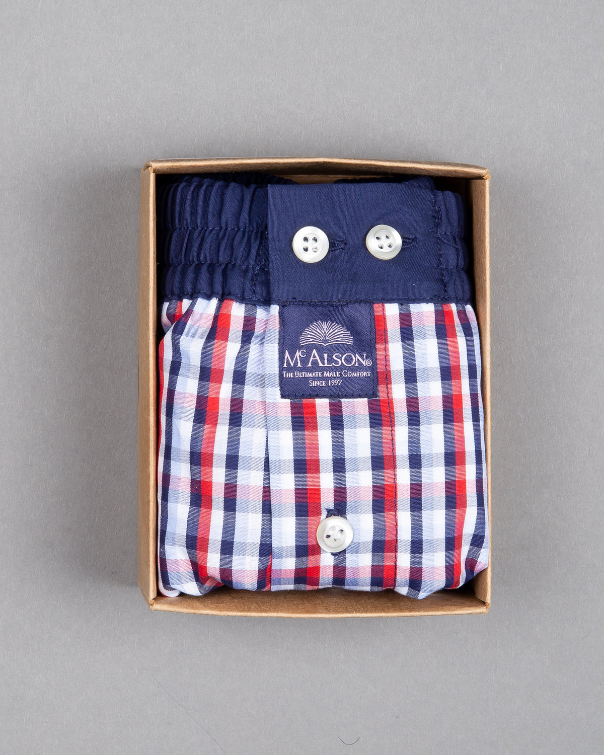 Mc Alson Boxershort 100% cotton blue white red
