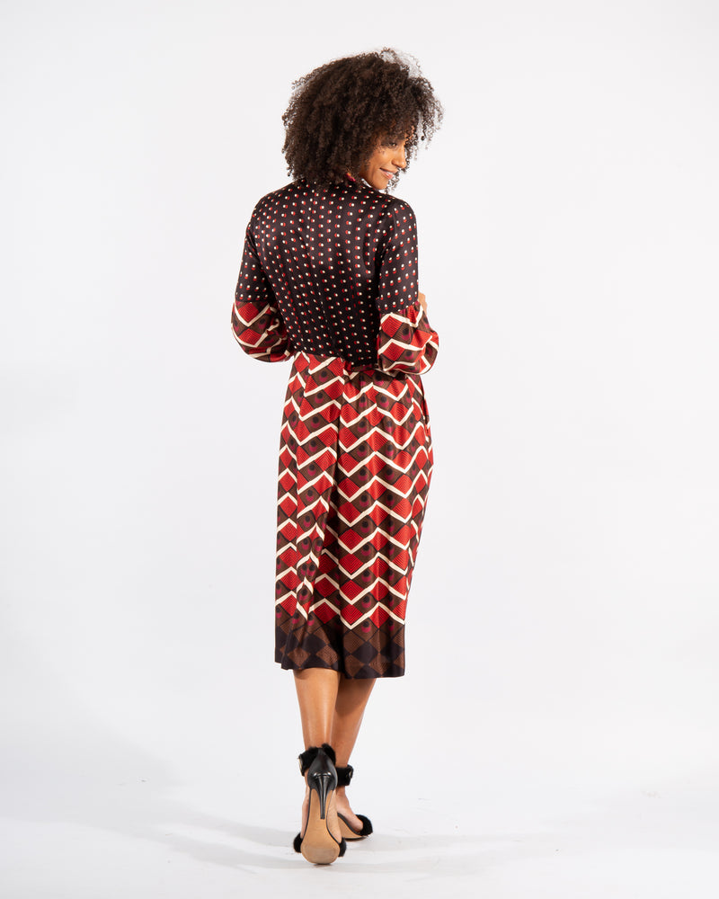 Patterned Silk Dress