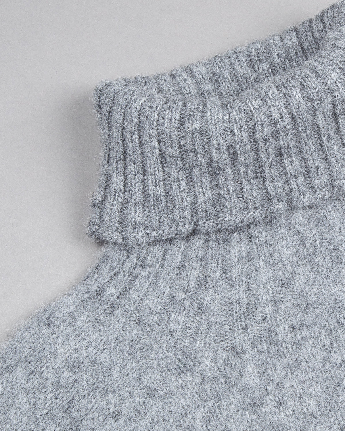 Brushed Shetland Turtleneck