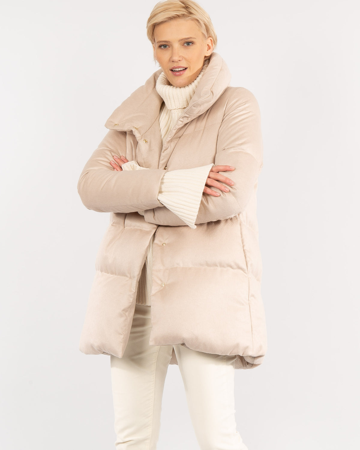 Silk Blend Quilted Jacket