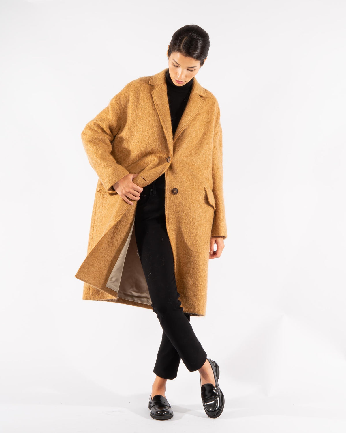 Wool Mohair Coat