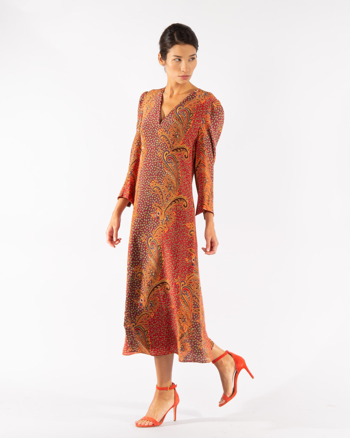 Silk Paisley Dress