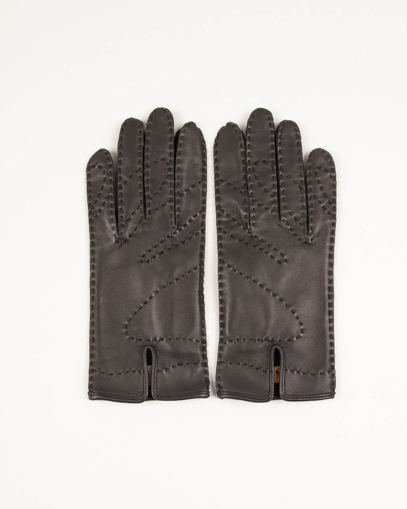Leather Silk Gloves