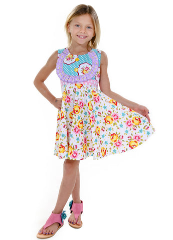 Blue Kid Girl Dresses Size 2-6 - ESMERALDA THOMSON