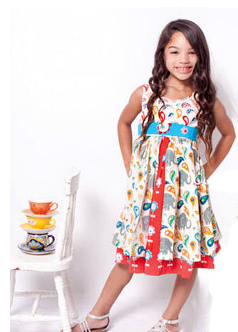 Cute Kid Girl Dresses Size 4-8 - ESMERALDA THOMSON