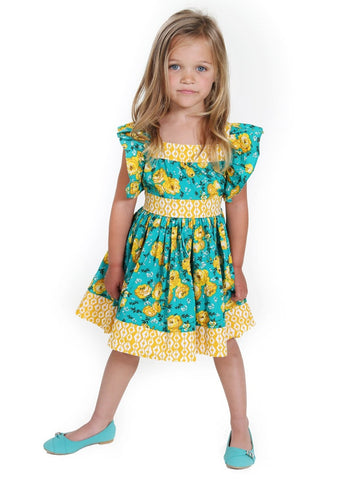 Kid Green Girl Dresses Size 2-10 - ESMERALDA THOMSON