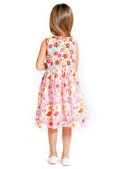 Pink Kid Girl Dress Size 2-7 -  ESMERALDA THOMSON