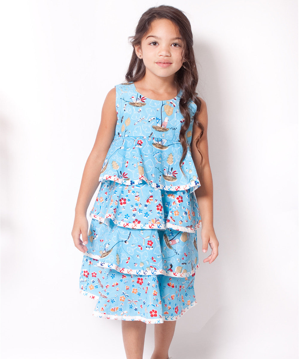 BLUE LAYERS DRESS