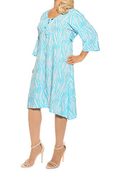 Aqua Resort Dress - ESMERALDA THOMSON Beach and Resort Wear